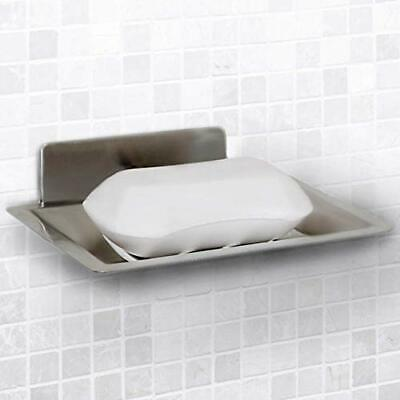 Vila Self-Adhesive Soap Holder - Wall Mounted Shower Dish - Self-draining