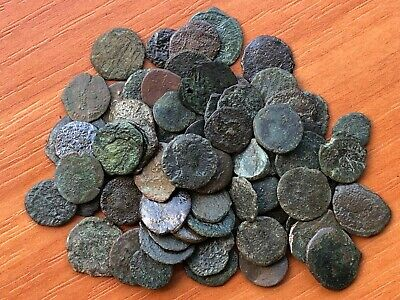Lot of 75 Ancient Roman Imperial Bronze Coins AE3 - AE4