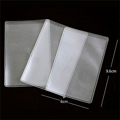 10X PVC Credit Card Holder Protect ID Card Business Card Cover Clear Frosted HK