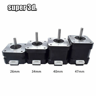 Nema 17 42 Stepper Motor Height 26/ 34/40/48mm 4-lead 12V for 3D Printer CNC par