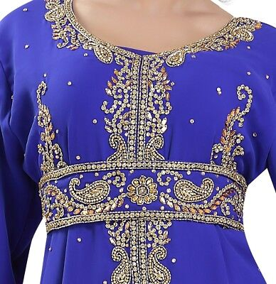Traditional Algerian Hand Embroidered Genie Maxi Fancy Dress Costume  6582