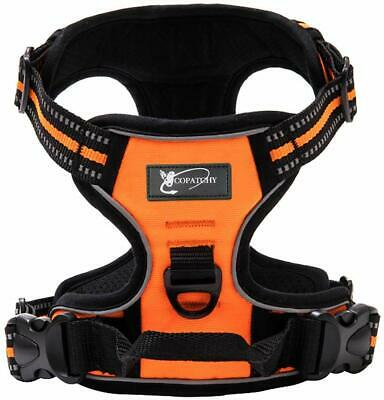 Copatchy Dog Harness No-Pull Pet Harness Adjustable Outdoor Vest 3M Reflective