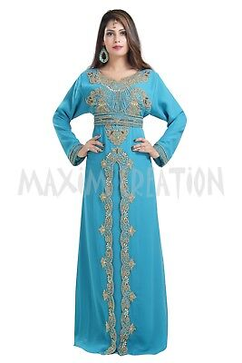 Tunisian Cultural  Djellaba Sequins Embroidery Customized Wedding Luxe Gown 6574