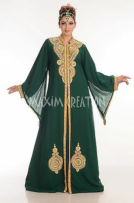 Traditional Seljug Iranian Elizabethan Hand Embroidery Customized Maxi Gown 4190