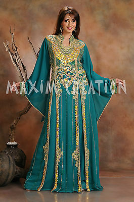 Haute Coutre Hand Embroidered Genie Fancy Arabic Princess Cocktail Dress 3444