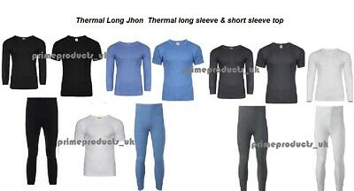 Men's Thermal Long Johns Top Bottom Underwear Trousers T Shirt and Full Set
