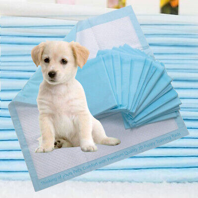 10 Super Absorbent 60x60cm Puppy Dog Training Pads Pet Train Toilet Trainer Pads