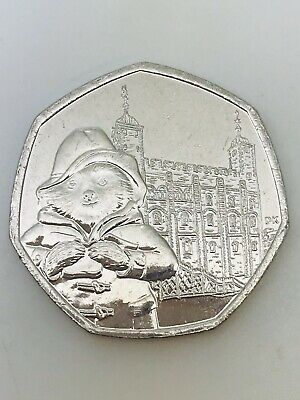 Paddington Bear at the Tower of London 2019 Fifty Pence Coin 50p Piece