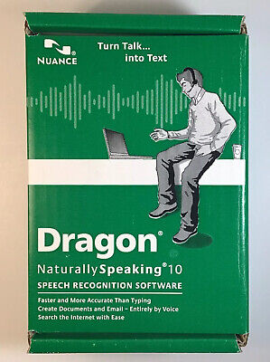 Dragon Naturally Speaking 10 Speech Recognition Software Nuance NEW