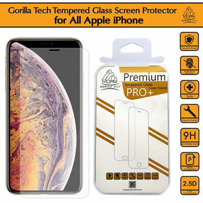 iPhone 11 Pro Max XS 8 7 Gorilla Tech Tempered Glass Invisible Screen Protector