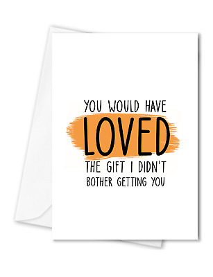 Funny Rude Birthday Card  I laugh because you are my sister C183