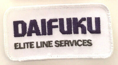 Daifuku Elite Line Services employee patch 2 X 4 #2696