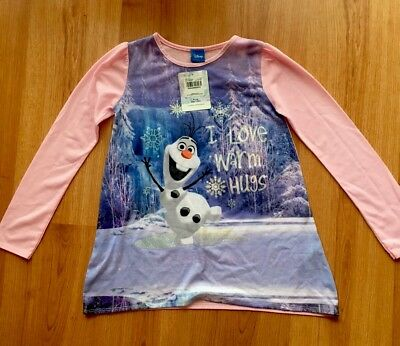 New With Tags Age 9 Years Disney Frozen Olaf T Shirt Glittery Writing