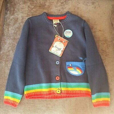 Frugi Whale Cardigan Brand new with tags -3-4years