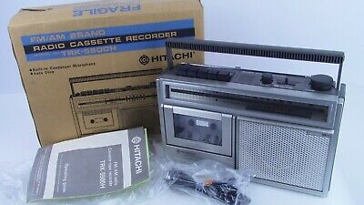 Vintage Hitachi AM/FM Radio Cassette Player Recorder Model TRK-5500H