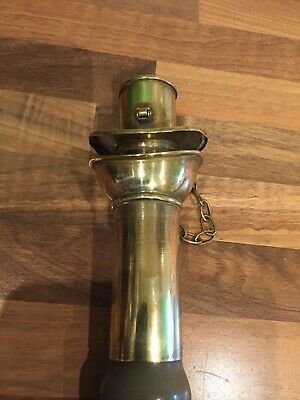 Vintage Brass Ships Voice Speaking Tube & Whistle Maritime Marine Boat Nautical