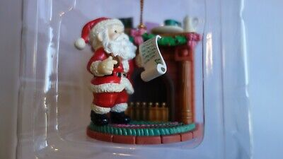 Vintage Mistletoe Magic Christmas Collection Santa & List at Fireplace 9503160