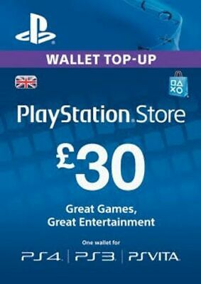 PlayStation Network £30 GBP Wallet Top Up READ DESCRIPTION!!!
