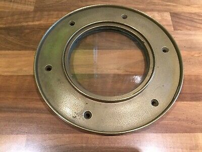 Original Vintage Brass Fixed Porthole Maritime Marine Boat Nautical