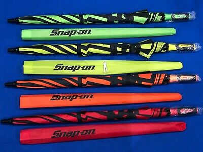 Snap On Vented Golf Umbrella Red Orange Green Hi-Vis Yellow Stocking Filler NEW