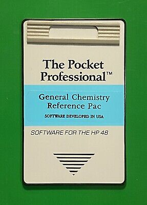 Chemistry Reference Card for HP 48GX / 48SX Calculators