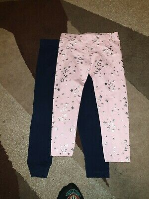 Girls leggings age 4-5 Plain And Stars New And Used