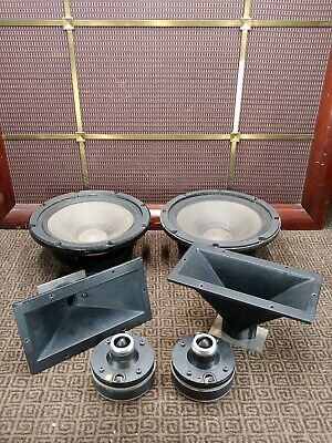 "2 RCF L 10-561 10"" Speakers & 2 N-281 Drivers with Horns, 8 ohm Sound Fantastic"