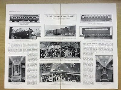 1903 GREAT WESTERN RAILWAY - The Mantel of Brunel - ANTIQUE PHOTO ARTICLE