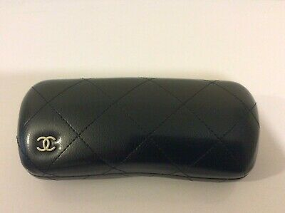 Genuine Chanel Ladies Leather Black Sunglasses Case Nearly New