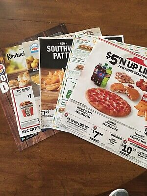 Fast Food Coupons Pizza Hut Subway Hardees Arbys Kfc Burger King Captain D 11/30