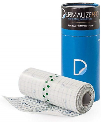 Dermalize Pro Tattoo Bandage in 6 Inch x 10.9 Yard/10 Meter Roll Clear Adhesive