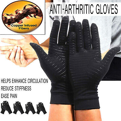 A Pair Anti Arthritis Gloves Compression Support Hands Pain Relief Carpal Tunnel