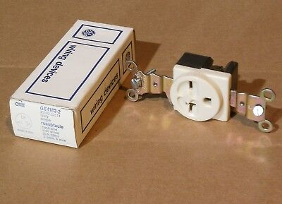 General Electric GE4182-2 Single Receptacle Ivory 20A 250V 2 Pole 3 Wire