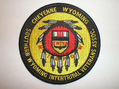 WY Cheyenne South Wyoming Inter Tribal Veterans Assn Indian Tribes patch MIA POW