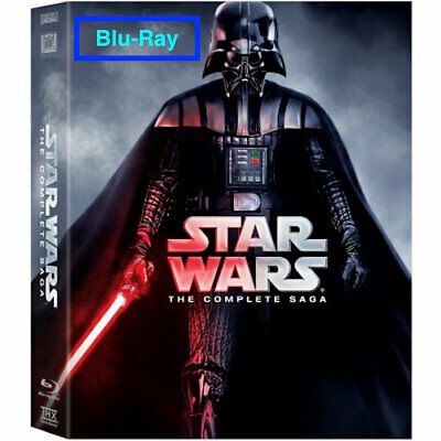 Star Wars: The Complete Saga Movie Episodes 1-6 Blu-Ray (9-Disc) Box Set
