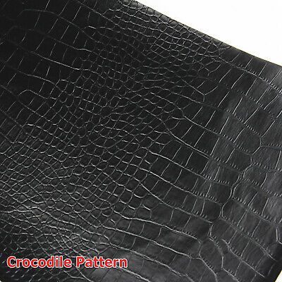 Vinyl Fake Leather Fabric Crocodile Pattern Upholstery Bags Seats Auto Restore