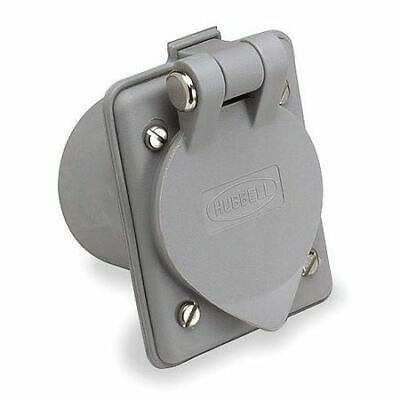 HUBBELL WIRING DEVICE-KELLEMS HBL61CM65 20A Single Flanged Receptacle 125VAC