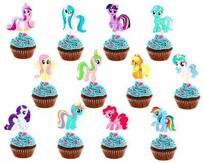 "1.5/"" Precut Icing Cupcake Toppers My Little Pony 12 or 24 Rainbow Dash"