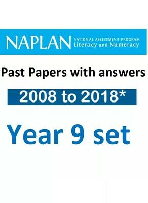 NAPLAN Year 9 Official Past Test Papers Set + answers 2008-2016 & Solution 17,18