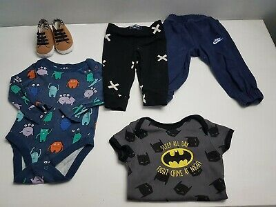 Boys 3-6 Months Clothing Bundle X17 Items Tops Vest Shoes And More