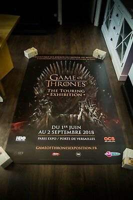 GAME OF THRONES TOURING EXHIBITION B 4x6 ft Shelter Movie Poster Original 2018