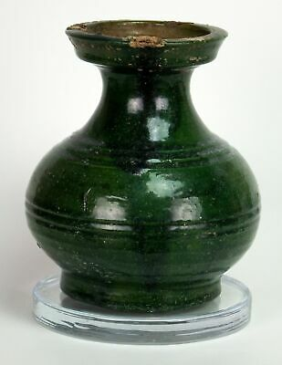 Chinese Han Dynasty Green Glazed Hu Vase