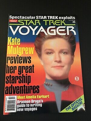 Vintage star trek voyager magazine Feb 1996 Back Issue # 5