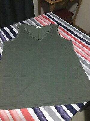 Ladies Jeans West Singlet Top Size M