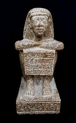 Rare huge fantastic Faience Egyptian Ancient Antique Carved Egypt bust queen
