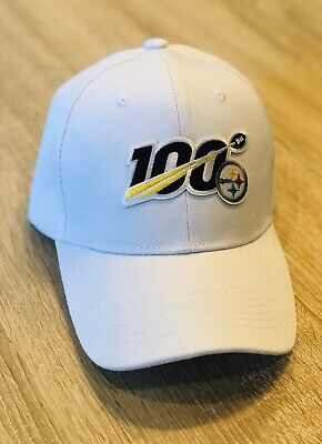 NFL 100th Season Cap Hat 2019 Patch Style PITTSBURGH STEELERS 100 Anniversary WH