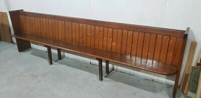 An Antique Victorian Very Long Pitch Pine Church Chapel Pew Bench