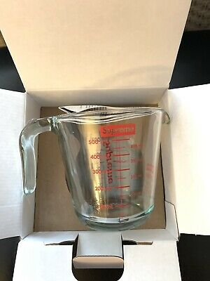 NEW Supreme Pyrex 2-Cup Measuring Cup FW19  *IN HAND*BRAND NEW SEALED/ FAST SHIP