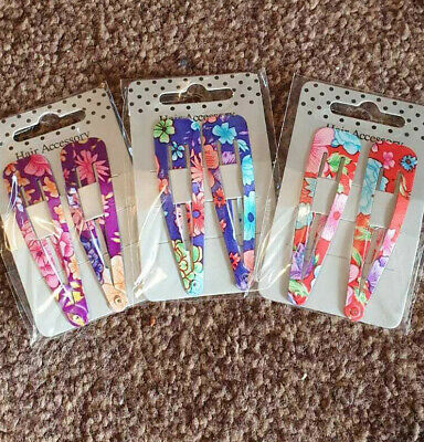 Ladies Womens Large Floral Hair Clips Snap Clips Hair Accessories