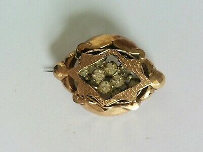 UNUSUAL Antique Yellow Metal brooch. Late Victorian Early Edwardian, Gold ???